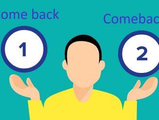 Come back là gì